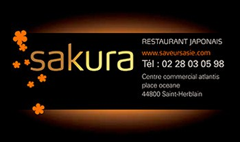 Carte de visite Sakura 44 St-Herblain